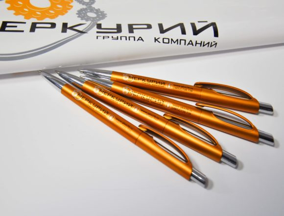 Брендированный шоколад и ручки с логотипом к выставке
